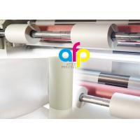Buy Anti Scratch BOPP Thermal Lamination Film Roll , Multiple Extrusion BOPP Rolls at wholesale prices