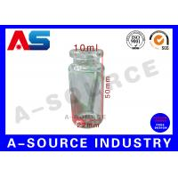 China Tubular Miniature Glass Bottles Blue Amber Glass Bottles With Secure Rubber Lids on sale
