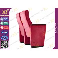 Buy Red Acrylic Fabric Public Space Church Install Conference Room Chairs With Long at wholesale prices