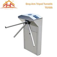 Quality Biometric Drop Arm Tripod Turnstile Gate RFID Reader And SUS304 Stainless Steel for sale