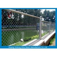 Quality Decorative School Playground Galvanized Chain Link Wire Fence , Chain Wire Fencing for sale