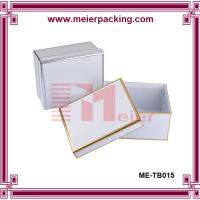 China Custom paper square box, White silver/golden foil sweather packaging box ME-TB015 on sale