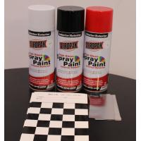 Quality Weather Resistant Fast Dry Acrylic Spray Paint Black For Leather / Plastic for sale