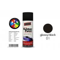 Quality Natural Drying Removable Rubber Spray Paint Glossy Black Color For Car for sale