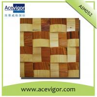 Quality Solid wood wall tiles mosaic with wavy shape for sale