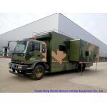China Camouflage Mobile Workshop Truck , Isuzu FVZ Outdoor Caravan With Sleep Bed for sale