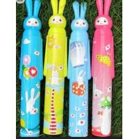 Quality Cartoon Cute Pattern Bottle Shaped Umbrella Handle Open190T Polyester Fabric for sale