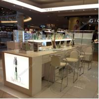 Buy Stylish design standing cosmetic cabinet showcase at wholesale prices