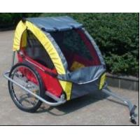 Red Double Child Bike Trailer with 420D waterproof polyester textile