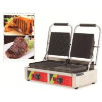 Quality Electric Panini Griddle Counter Top Double Plate CE Approval Panini Griddle FMX-WE174A for sale