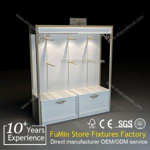 Quality Retail Garment Shop White Display Rack for sale