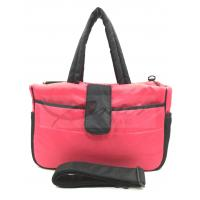 Quality Pink Mummy Tote Diaper Bags For Traveling / Outdoor Activity 190T Polyester Lining for sale