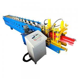 China 5.5kw Metal Roof Ridge Cap Roll Form Equipment PLC Delta Inverter Control on sale