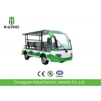 Quality 8 Passengers Mini Electric Sightseeing Car With Rear Small Package Box for sale