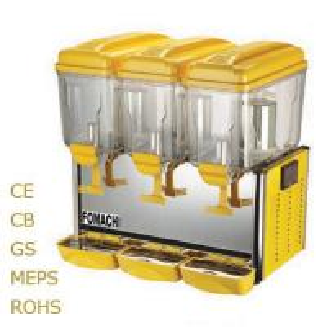 Buy Superior Juice Dispenser Triple Tank 3*12 Liter R134 Refrigerant Juice Dispenser at wholesale prices