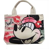 Quality White Womens Nylon Tote Bags Silk Screen Print With Zipper Closure for sale