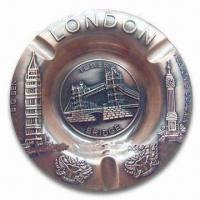 Quality Promotional London Ashtray, Made of Alloy, Available in Various Sizes and Colors for sale