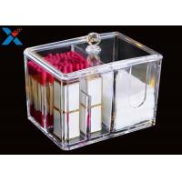 Quality Transparent Square Acrylic Box , Acrylic Cotton Box Lipstick Display Stand for sale