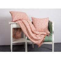 Quality 100% Polyester Woven Orange Cushion Covers , Elegant Indoor / Outdoor Throw Pillows for sale