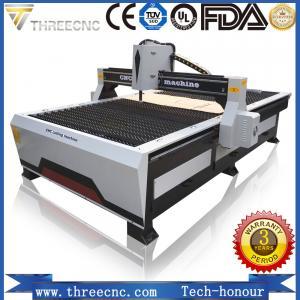 Quality low cost cnc plasma cutting machine TP1325-125A with Hypertherm plasma power supplier. THREECNC for sale