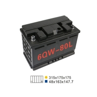 Quality 20HR 75AH 660A 6 Qw 80L Car Battery For Start Stop 311*175*175mm for sale