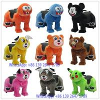 Quality 2018 The Latest Design Remote Control Battery Coin Operated Electric Cute Plush Animal Ride On Toys for sale