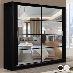 Quality Stylish Bedroom Furniture Sliding Doors glass Wardrobe for sale