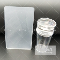 Quality 2.8Cm Silicone Jelly Head Clear Nail Art Stamper And Scraper for sale