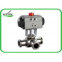 Quality Food Grade 3 Way Sanitary Ball Valves  Male / Female Thread , Floating Ball Core Structure for sale