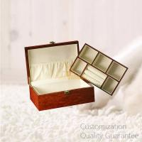 China High Gloss Burlwood Men Gifts Wooden Jewelry Box with Ring Rolls, Personalized Logo Brand. on sale