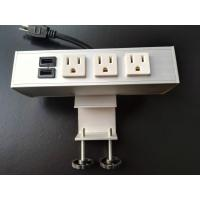 Quality Desk Mounted Power Sockets Electrical Outlet , Metal Tabletop Power Bar Receptacle for sale
