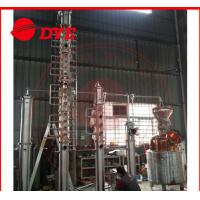 Quality Semi-Automatic Commercial Distilling Equipment , Copper Pot Still Column for sale