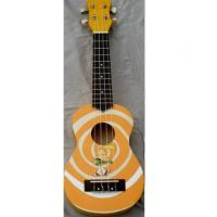 Buy Red / Yellow Rosewood Bridge 21 inch Hawaii Guitar Ukulele Lollipop Shape at wholesale prices