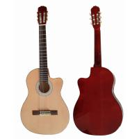 Quality Cutaway 39 inch 6 String Wood Classical Guitar Solid Spruce Top Guitar CG3920C for sale