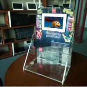 7 inch HD LCD acrylic counter display