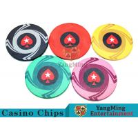 Quality Ceramic Casino Poker Chips , Poker Chips And CardsWith Dynamic Textures Design for sale
