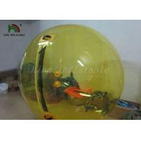 Quality Yellow Color 1.0mm PVC Inflatable Walk On Water Balls / Water Bubble / Human Sphere for sale
