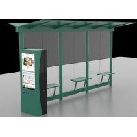 Quality Auto LCD Outdoor Digital Signage , Digital Bus Stop Shelter Advertising System for sale