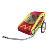 Quality Easy folding flat by hand, 5 points safety belt protecting Double Bike Trailers with ASTM for sale