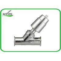 Quality Double Acting Hygienic Valves Pneumatic Angle Seat Valve PTFE Seal Material for sale