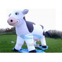 Quality Waterproof Dairy Cow Blow Up Cartoon Characters Inflatable With Air Blower for sale
