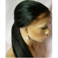 Quality Silky Straight Remy Front Lace Wigs , 100% Brazilian Front Lace Wigs Long Lasting for sale