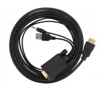 Quality VGA to HDMI Converter Male to Male Connector With USB Power and Audio Cable for sale