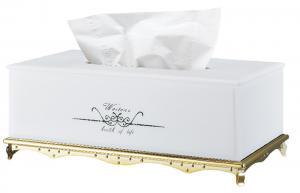 China Table Plastic Classical Decorative Rectangular Tissue Box on sale