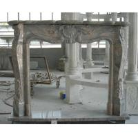 Quality Traditional Natural Stone Fireplaces China Juparana Granite Granite Fire Surround for sale