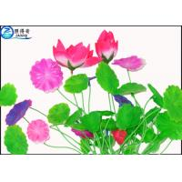 Buy Green Leaf Plastic Aquatic Plants Poly Resin Aquarium Fish Tank Decorations at wholesale prices
