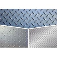 Buy cheap ASTM Steel Checker Plate Sheet , Gr65 Tear Drop Patten Galvanized Checker Plate from wholesalers
