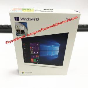 China 64/32 Bit USB 3.0 Windows 10 Pro Retail Box Sticker Download Professional Korean Language on sale