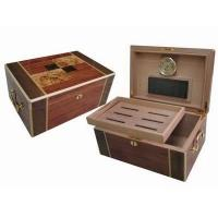 Quality wooden cigar humidors, with handle & lock, hinge & clasp, cedar wood pallet for sale