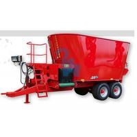 Quality 4pcs Tyres Beef Feed Mixer Wagon With Belt Conveyor And Serrated Cutting Knives for sale